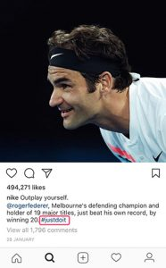 Nike Instagram branded post