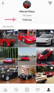 Ferrari instagram follow hashtags